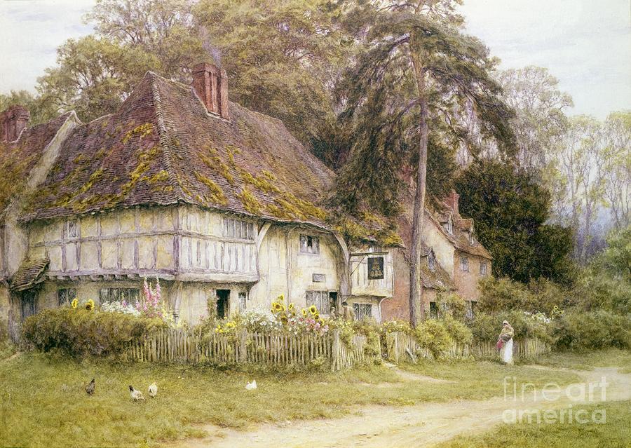 House Painting - Six Bells Hollingbourne Kent  by Helen Allingham