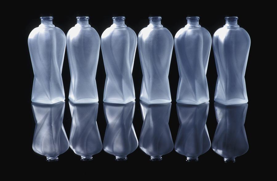 Background Photograph - Six Glass Bottles by David Chapman