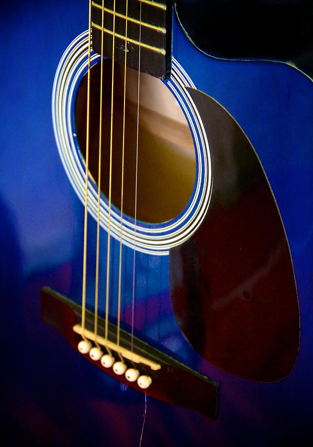Guitar Photograph - Six Minus One Abstraction by Odd Jeppesen
