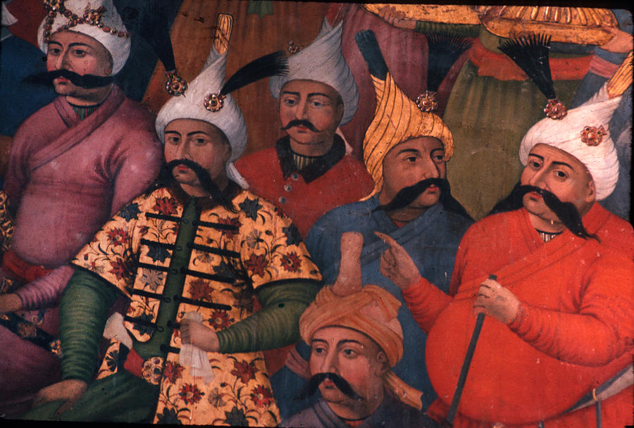 Men Photograph - Six Sultans In Iran by Carl Purcell