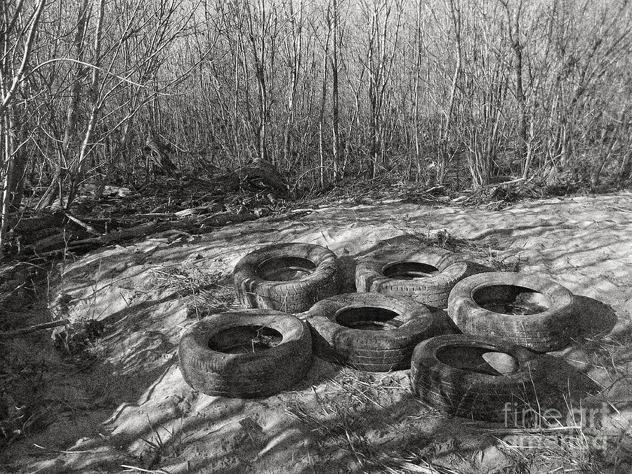 Tires Photograph - Six Tires by Janeen Wassink Searles