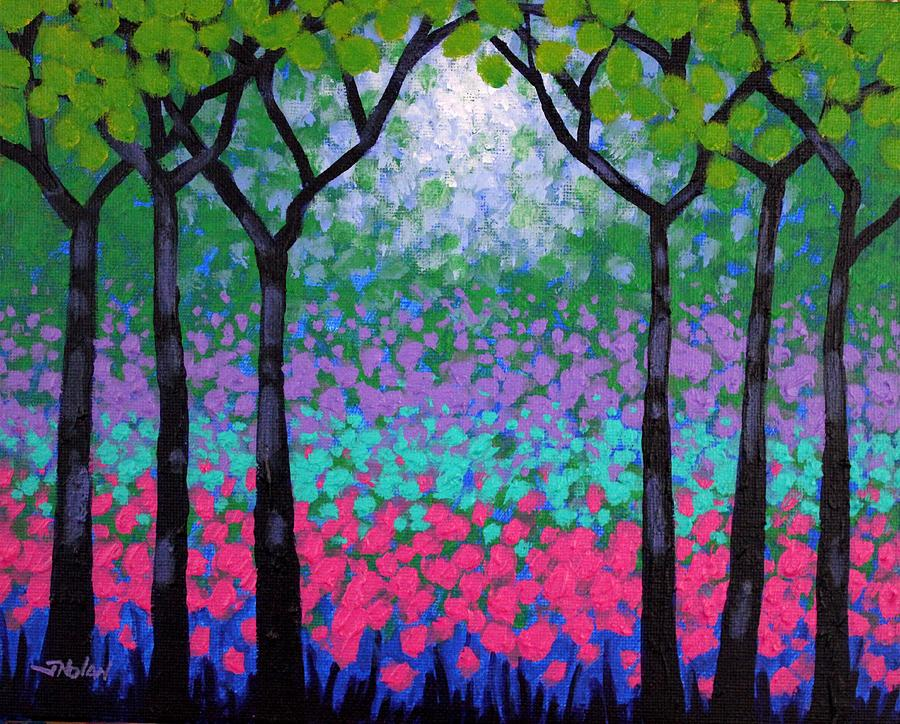 Landscape Painting - Six Trees by John  Nolan