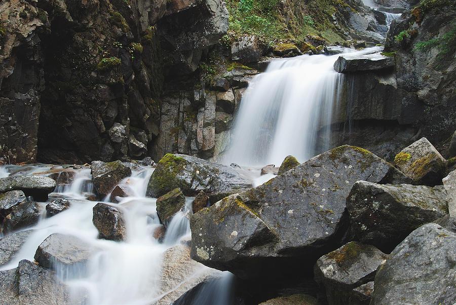 Landscape Photograph - Skagway Waterfall 8619 by Michael Peychich