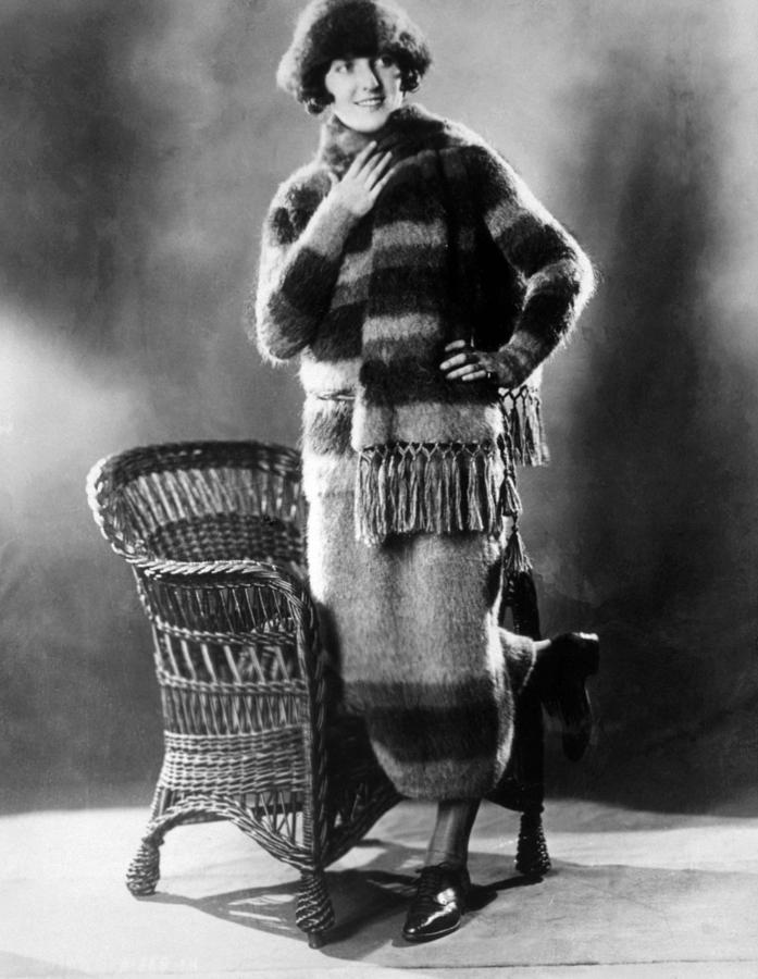 1920s Fashion Photograph - Skating Outfit Consisting Of Sweater by Everett