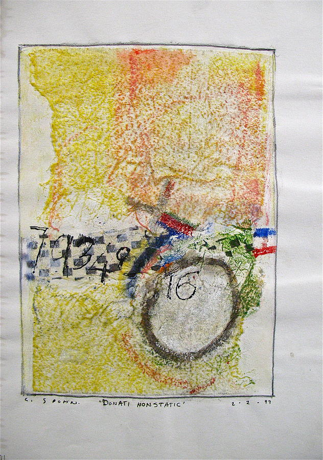 Abstract Paintings Drawing - Sketchbook 1  Pg 38 by Cliff Spohn