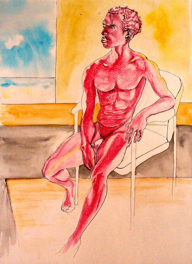 Male Drawing - Skinless by Nina Mirhabibi