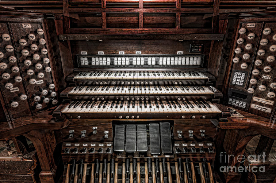 America Photograph - Skinner Pipe Organ by Clarence Holmes