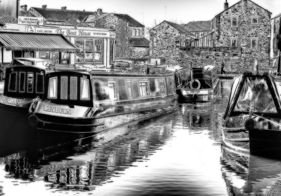 Water Photograph - Skipton Canal Basin by Trevor Kersley