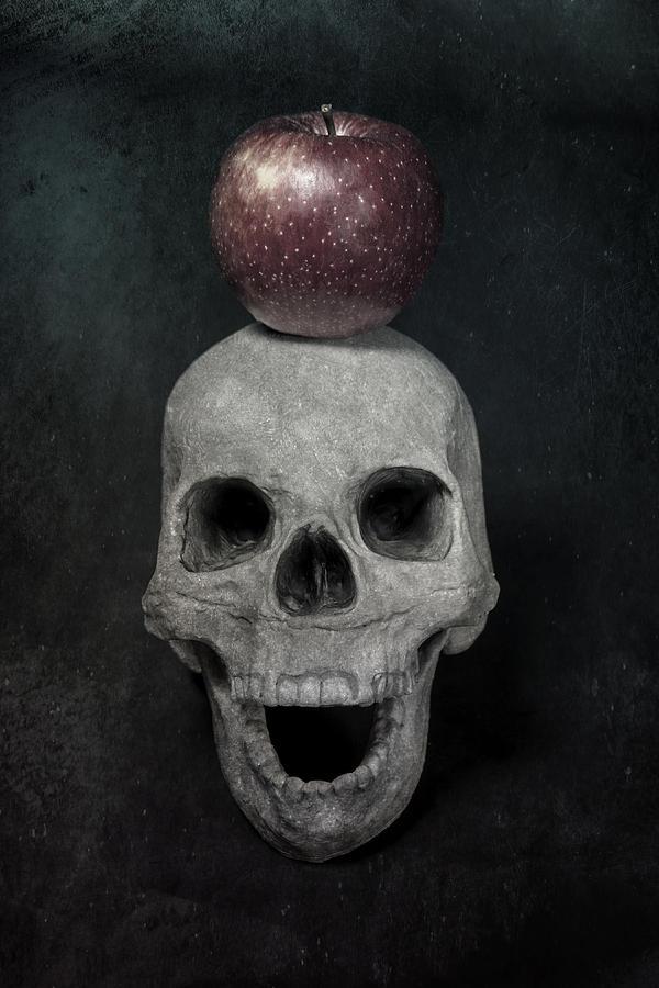 Skull Photograph - Skull And Apple by Joana Kruse