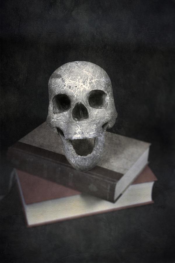 Skull Photograph - Skull On Books by Joana Kruse