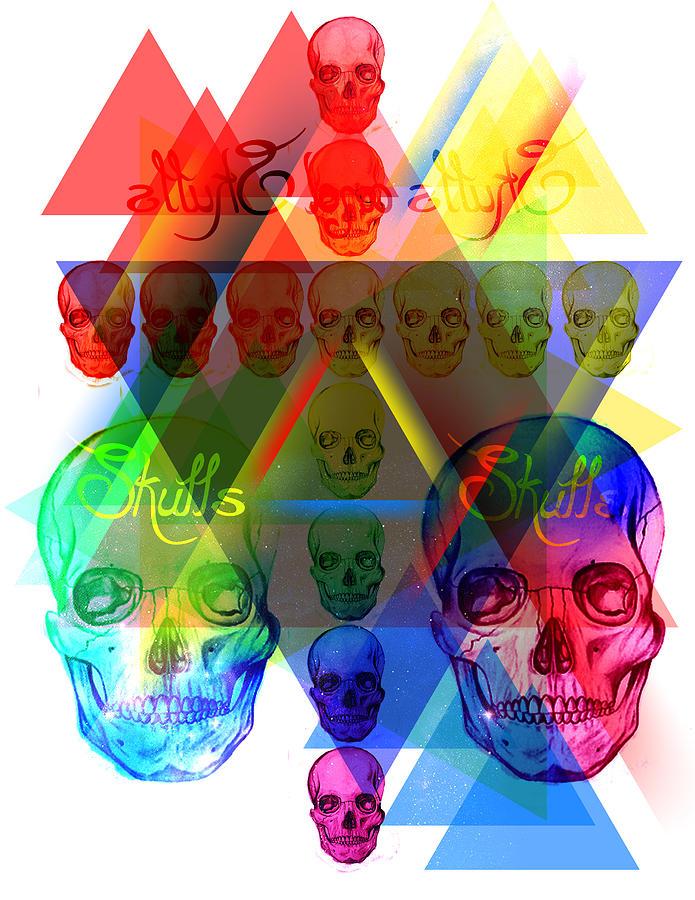 Skulls Illuminate Skulls Drawing - Skulls Illuminate Skulls by Kenal Louis