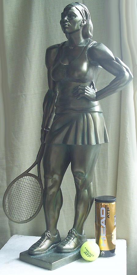 Skupture Tennis Player Sculpture by Zlatan Stoilov