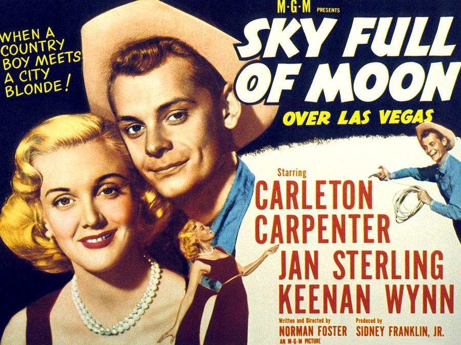 1950s Poster Art Photograph - Sky Full Of Moon, Jan Sterling by Everett