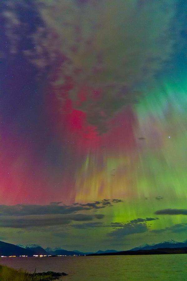 Aurora Borealis Photograph - Sky Full Of North Light by Frank Olsen