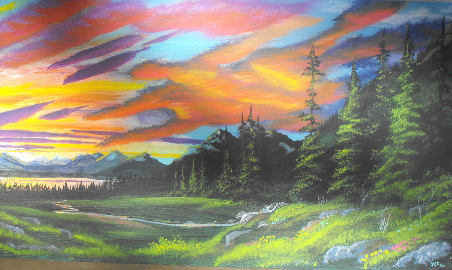 Skyfire Painting by W Wayne Mosbarger