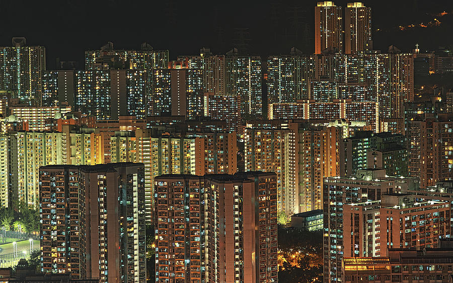 Horizontal Photograph - Skyline At Night by Ryan Cheng Photography