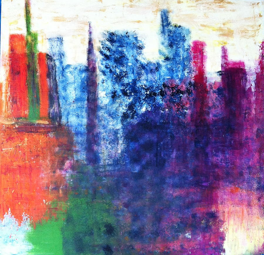 Abstract Painting - Skyline by Kristine Bogdanovich