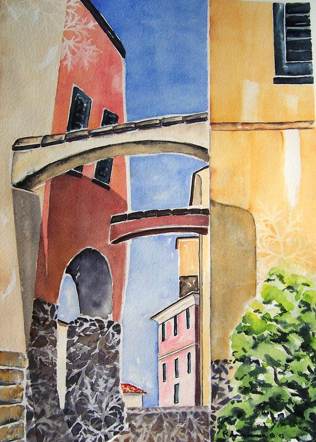 Italian Village Painting - Skyward by Regina Ammerman