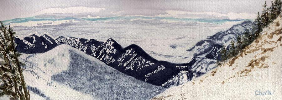 Montana Landscape Painting - Slachmans Ridge by Vikki Wicks