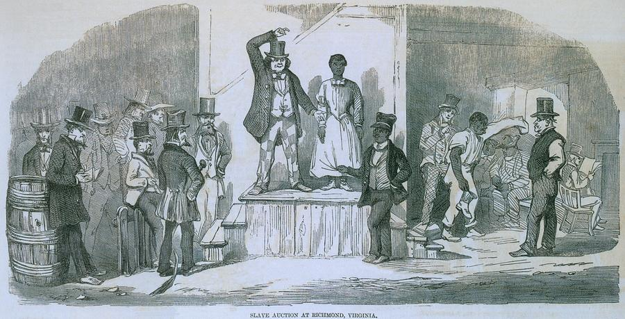 History Photograph - Slave Auction In Richmond, Virginia by Everett