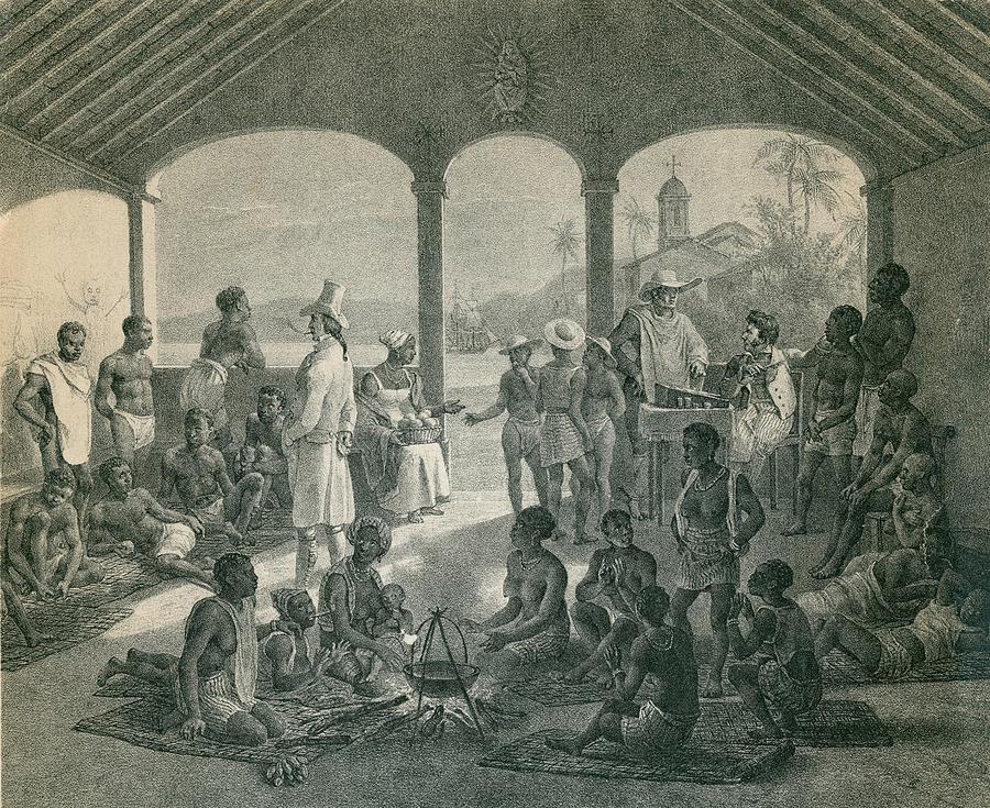 Slave Market In Rio De Janeiro 1835 Photograph by Everett