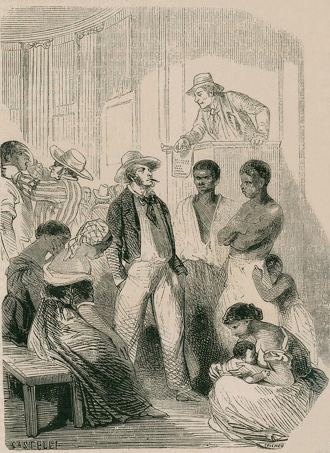 History Photograph - Slave Market In The United States by Everett