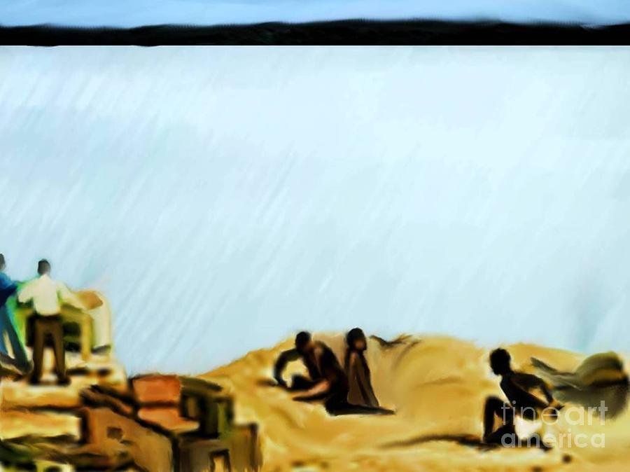 Black History Digital Art - Slaves Waiting For Ship by Belinda Threeths