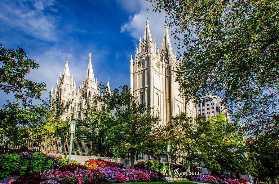 Salt Lake Temple Photograph - Slc Nw View by La Rae  Roberts