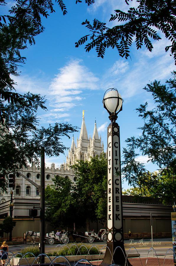 Mormon Temple Photography Photograph - Slc Temple City Creek by La Rae  Roberts