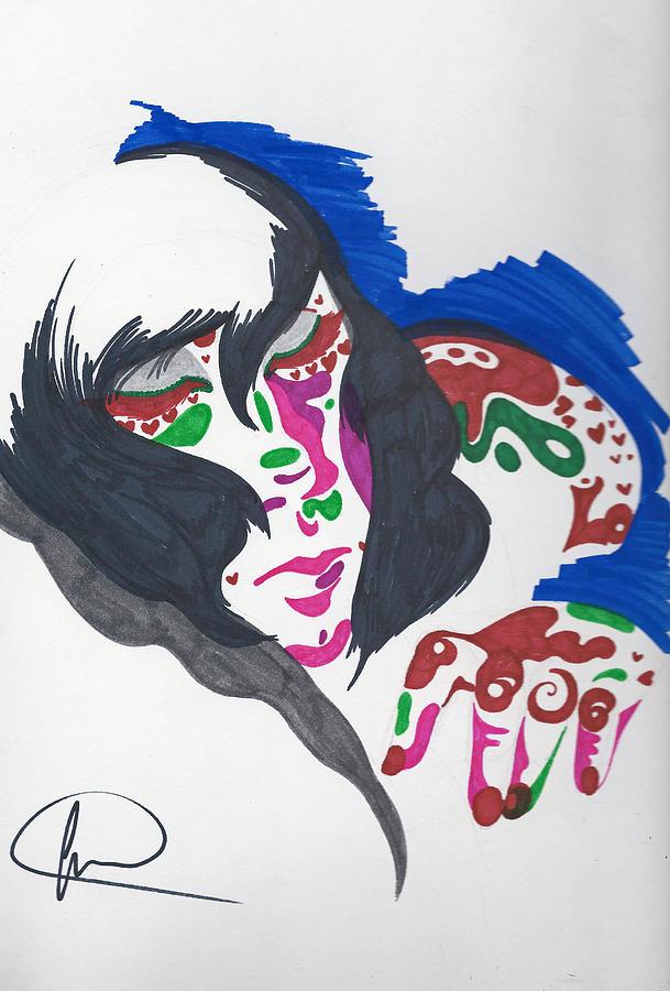 Drawing Drawing - Sleeping Beauty by Michelle Cruz