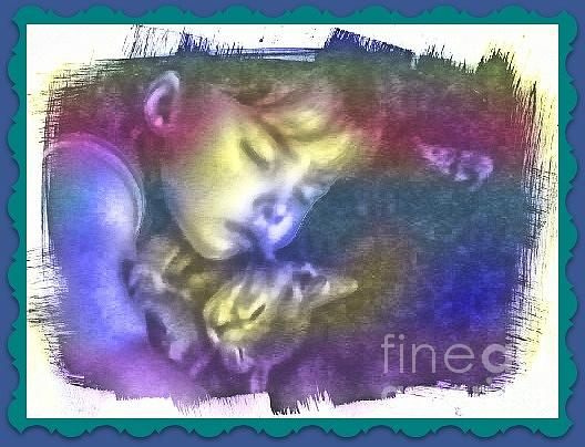 Child Photograph - Sleeping With Love by Michelle Frizzell-Thompson