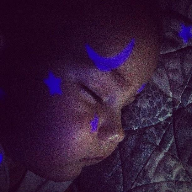 Baby Photograph - Sleeping With The Stars by Melissa Snyder