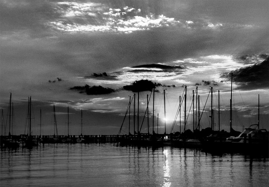Md Photograph - Sleepy Harbor by Skip Willits