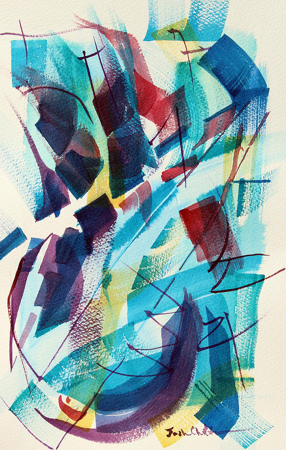 Watercolor Abstract Painting - Slice. by Josh Chilton