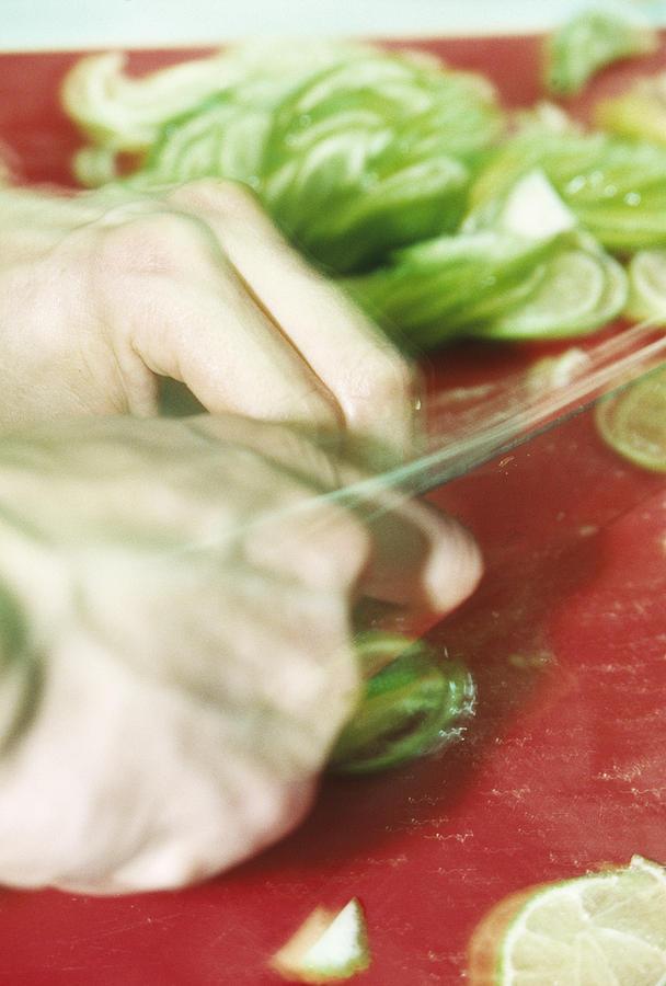Food Photograph - Sliced Limes by Cristina Pedrazzini