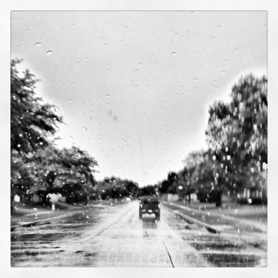 Blackandwhite Photograph - Slight Drizzle In Early Summer by Kel Hill