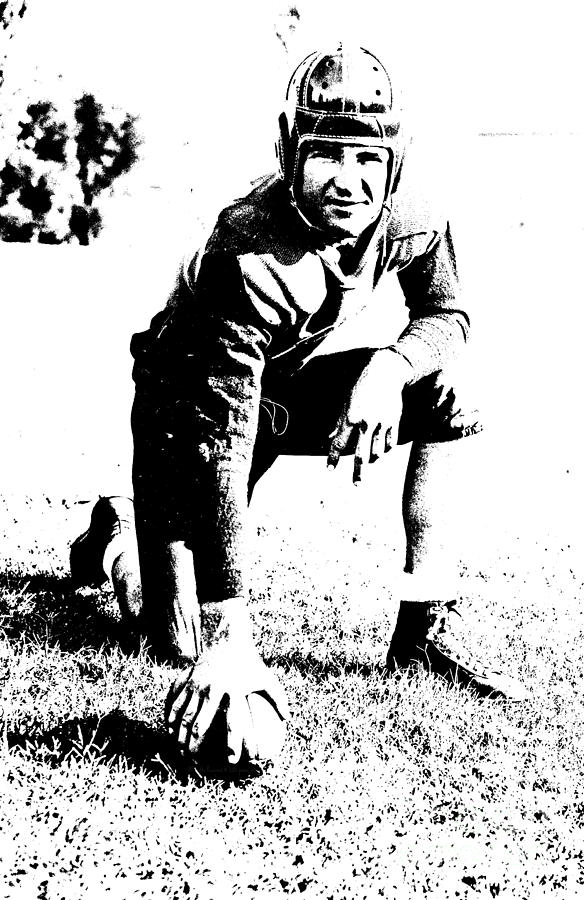 Football Photograph - Slingin Sammy Baugh 1937 Litho by Padre Art
