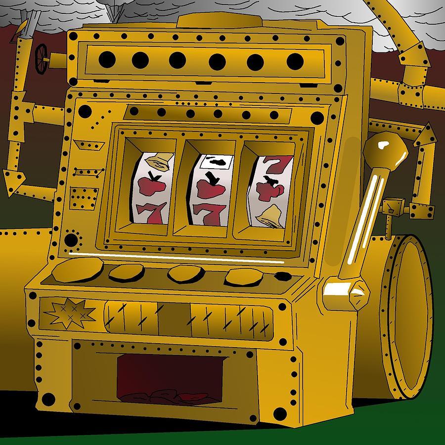 Slot Machines Digital Art - Slot Punk Steampunk Machine by Casino Artist