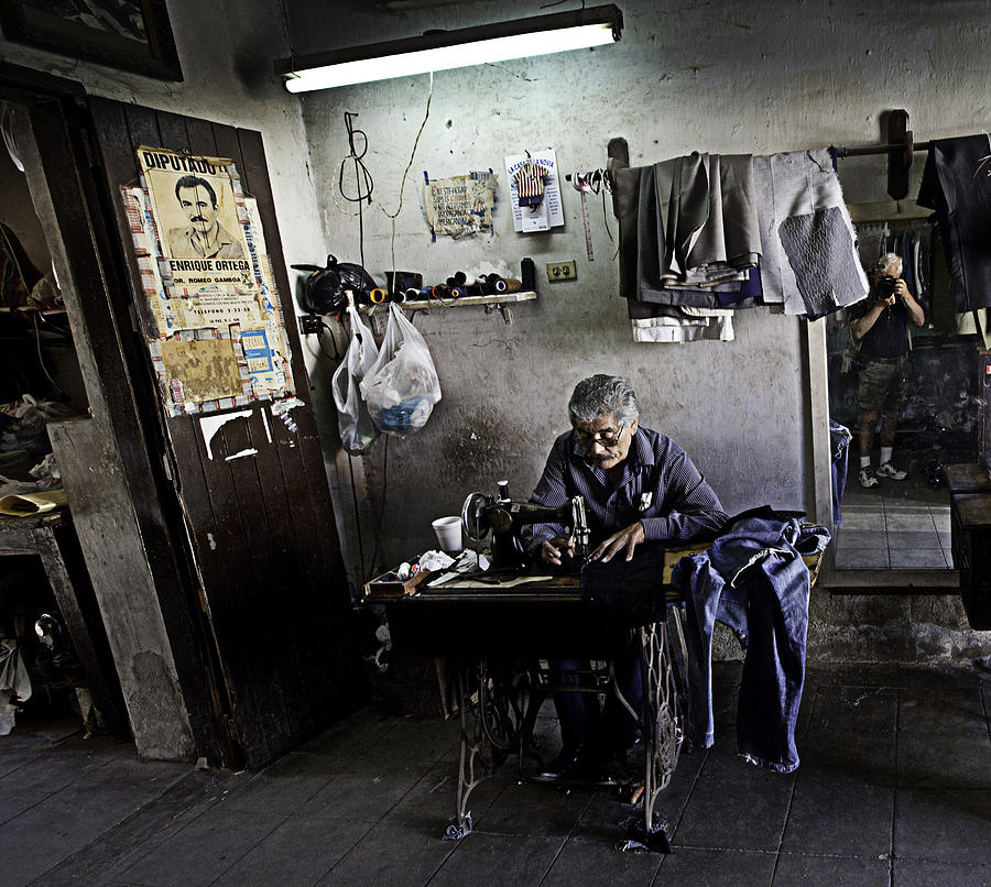 Tailors Photograph - Slow Stitching by Gary Batha