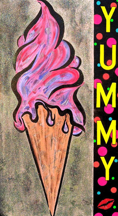 Ice Cream Painting - Sly Kone by Cyryn Fyrcyd