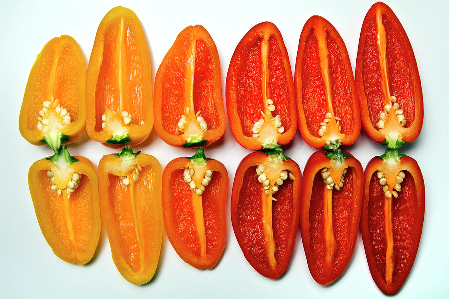 Horizontal Photograph - Small Sweet Peppers by Image by Catherine MacBride