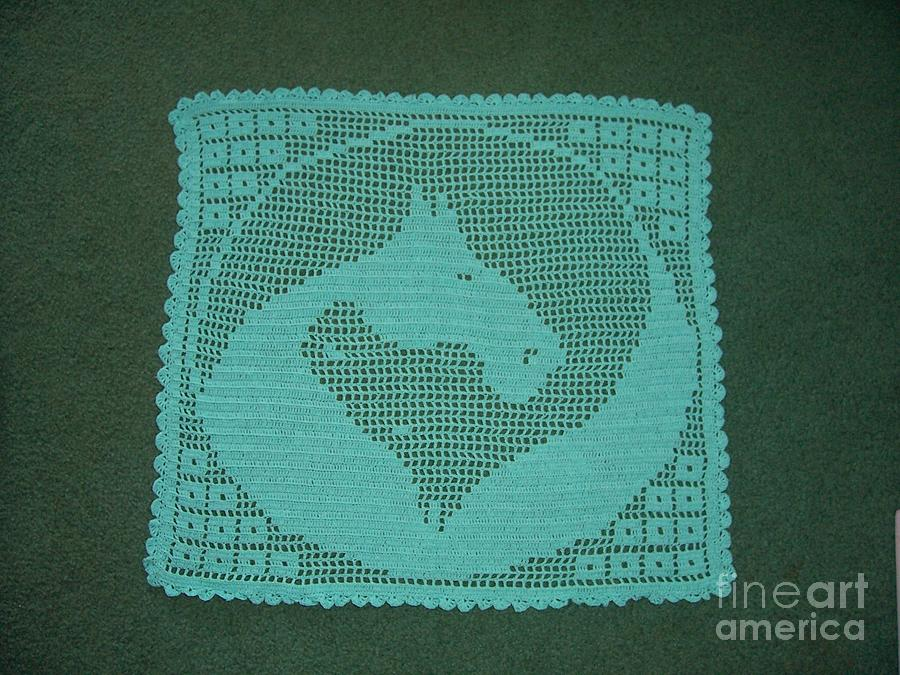 Horse Tapestry - Textile - Small Yin Yang Horses by Becky Furr