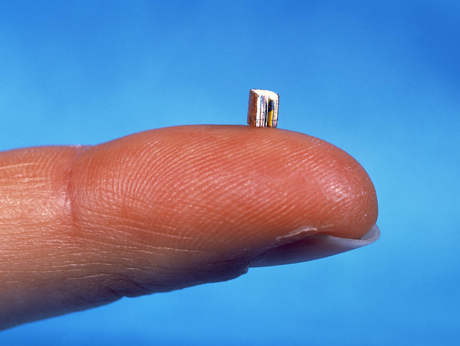 Microscopic Photograph - Smallest Book by Volker Steger