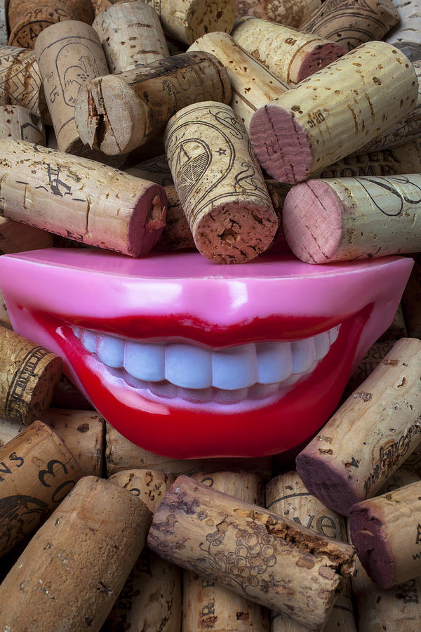 Smile Photograph - Smile Among Wine Corks by Garry Gay