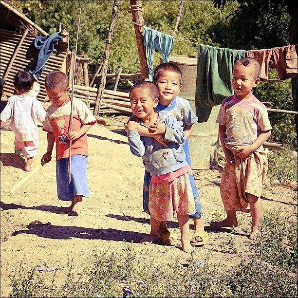 Cheery Photograph - Smiles #thailand #travel #happy #kids by A Rey