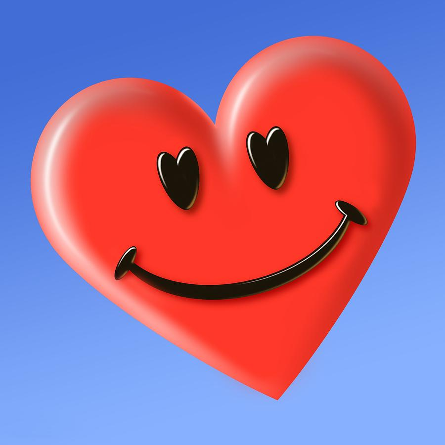 Smiley Heart Face Symbol Photograph By Detlev Van Ravenswaay