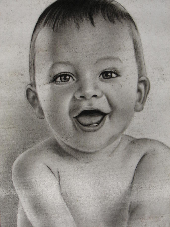 Smiling Baby Drawing by Cartoonize A Picture