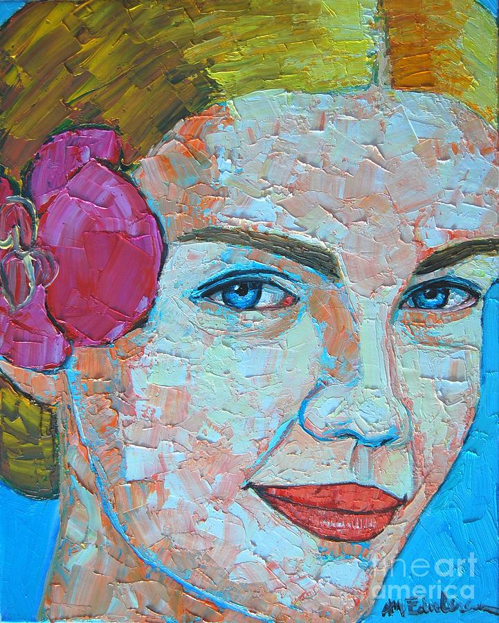 Portrait Painting - Smiling Girl by Ana Maria Edulescu