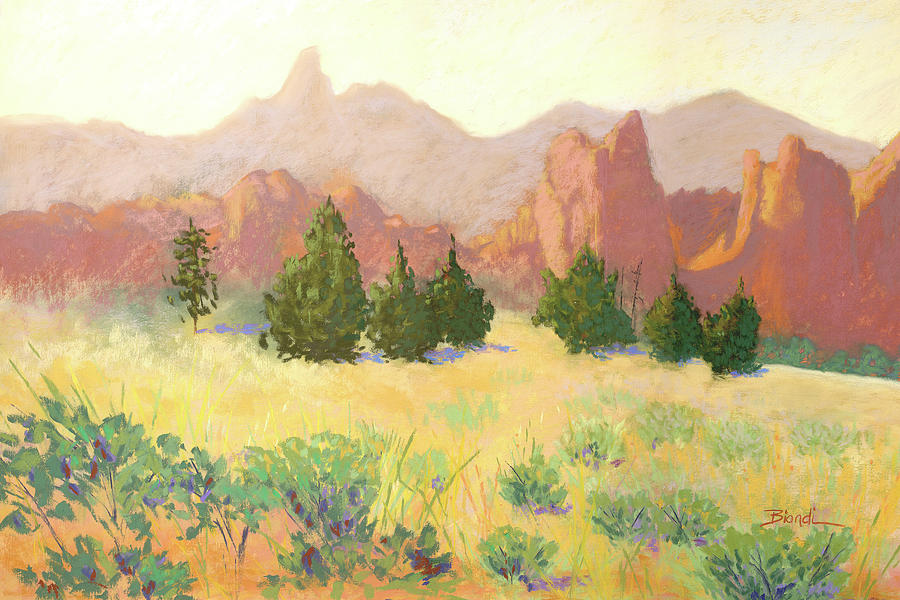 Smith Rock Pastel - Smith Rock by Janet Biondi