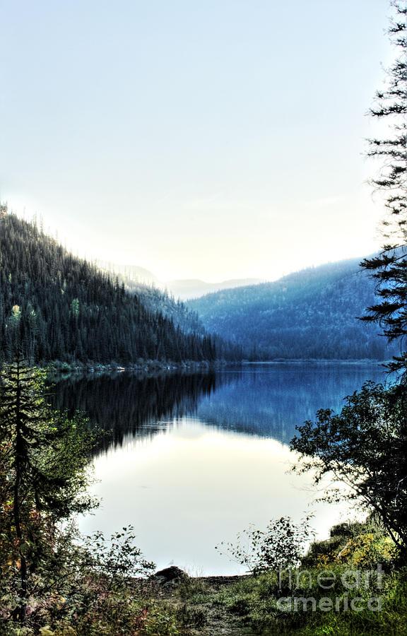 Marshal Lake Photograph - Smoke Behind Marshal Lake by Janie Johnson